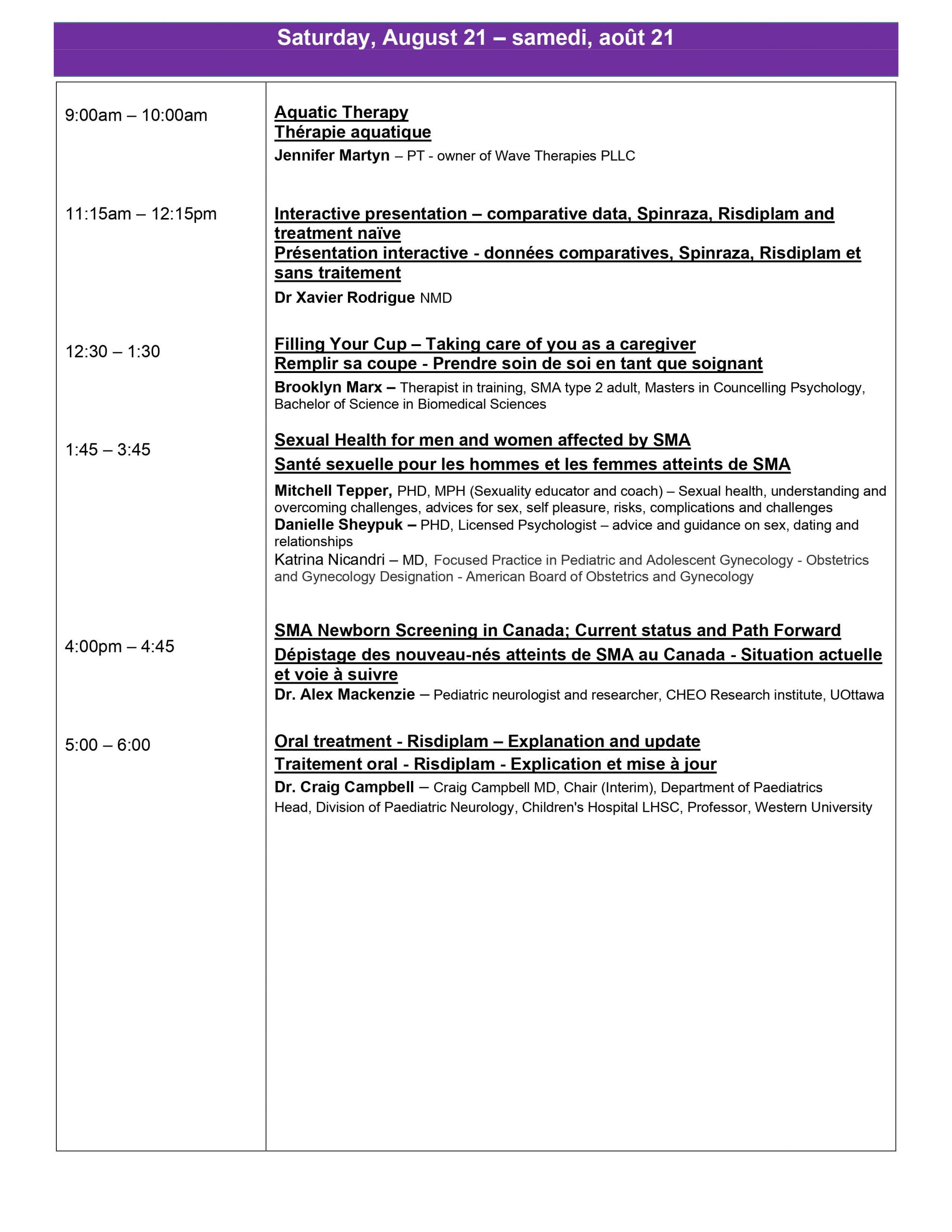 August 19 - 21, 2021 Virtual Conference Agenda